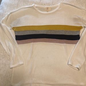 ANTHROPOLOGIE SOFT COLORBLOCK TOP SMALL